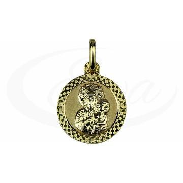 Nowoczesny, szlifowany medalik złoty - piękny.