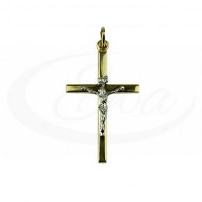 Klasyczny, złoty krzyżyk z Panem Jezusem.
