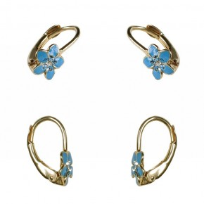 Śliczne, niebieskie kwiatuszki dla dzieci