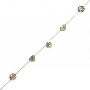 Piękna celebrytka wykonana ze złota z ażurowymi elementami