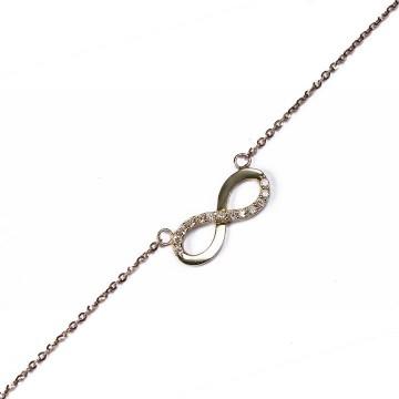 Modowy łańcuszek ze złota z symbolem nieskończoności