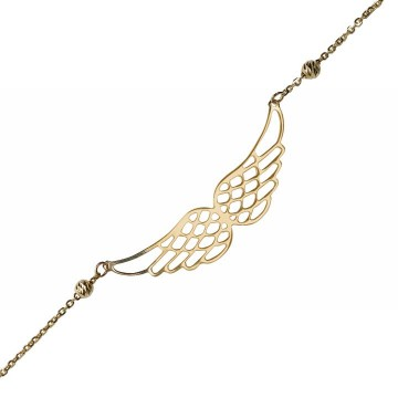 Ponadczasowa złota celebrytka z dwoma skrzydłami