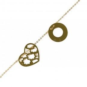 Subtelny złoty łańcuszek z ozdobnymi elementami