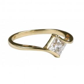Niesamowity, szeroki i wyrazisty pierścionek złoty.