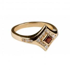 Unikatowy pierścionek z rubinową cyrkonią