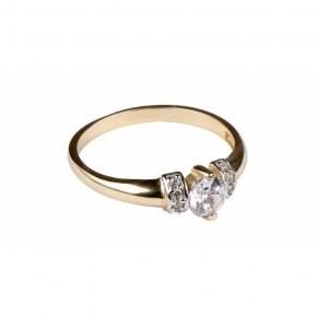 Bajeczny pierścionek z pięknymi cyrkoniami.