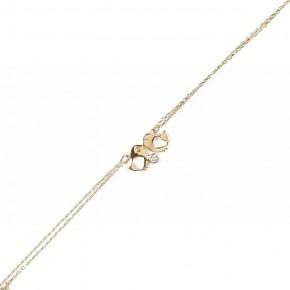 Subtelna, błyszcząca bransoletka złota - owale