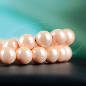 Naszyjnik - perła majorka w kolorze łososiowym