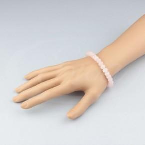 Pastelowa bransoletka z kryształków - kwarc różowy