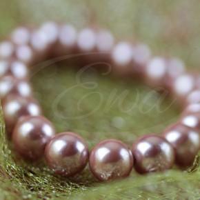 Gustowne bransoletki z różowych pereł Majorek.