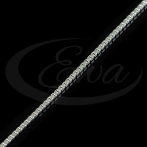 Klasyczny splot kostka, łańcuszek srebrny.