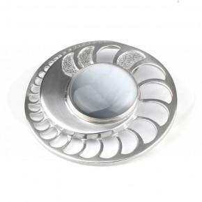 Nowoczesna zawieszka srebrna z szarym uleksitem.