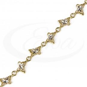 Delikatna, zalotna bransoletka złota - motylki