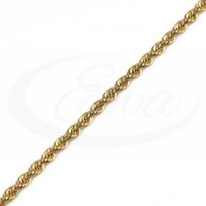 Mocny, wyrazisty, złoty kordel - bransoletka