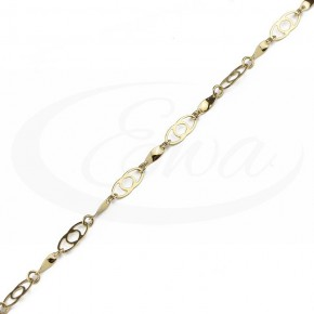 Delikatna bransoletka złota, subtelny wzór.