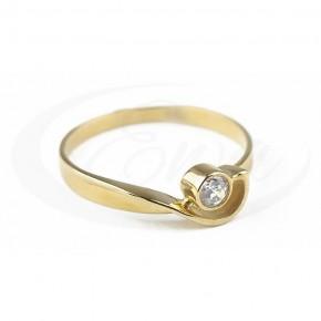 Subtelny pierścionek z delikatną cyrkonią.
