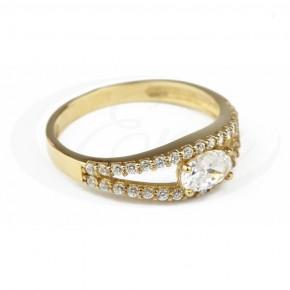 Niezwykły pierścionek, bardzo błyszczący, cyrkonie.