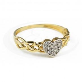 Ażurowy, cudowny pierścionek z serduszkiem.