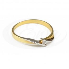 Delikatny pierścionek z subtelnym rodowaniem.