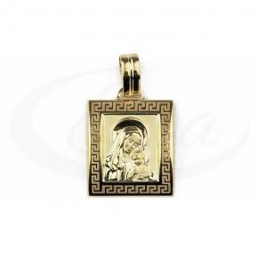 Nowoczesny, piękny medalik z Matką Boską
