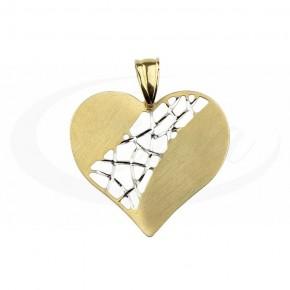 Niebanalne serce złote, ażurowy środek