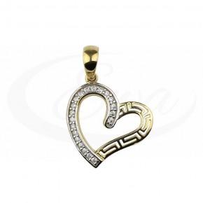 Delikatne serce - zawieszka ze złota, bardzo fantazyjna