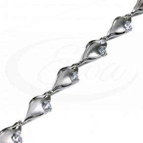 Elegancka srebrna bransoleta z cyrkoniami