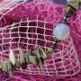 Naszyjnik - krzemień pasiasty, opal, hematyt, szkło